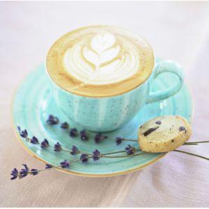 Taza de Café con Plato Aqua - X unidad